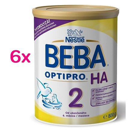 Nestlé BEBA Optipro HA 2, od 6. měsíce, 6 x 800g plech