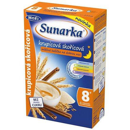 Sunarka krupicová kašička se skořicí na dobrou noc mléčná 225g