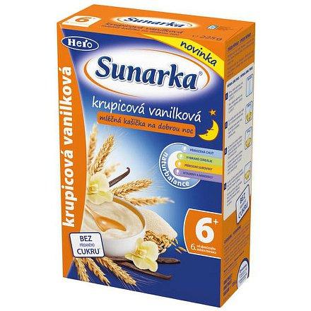 Sunarka krupicová kašička s vanilkou na dobrou noc mléčná 225g