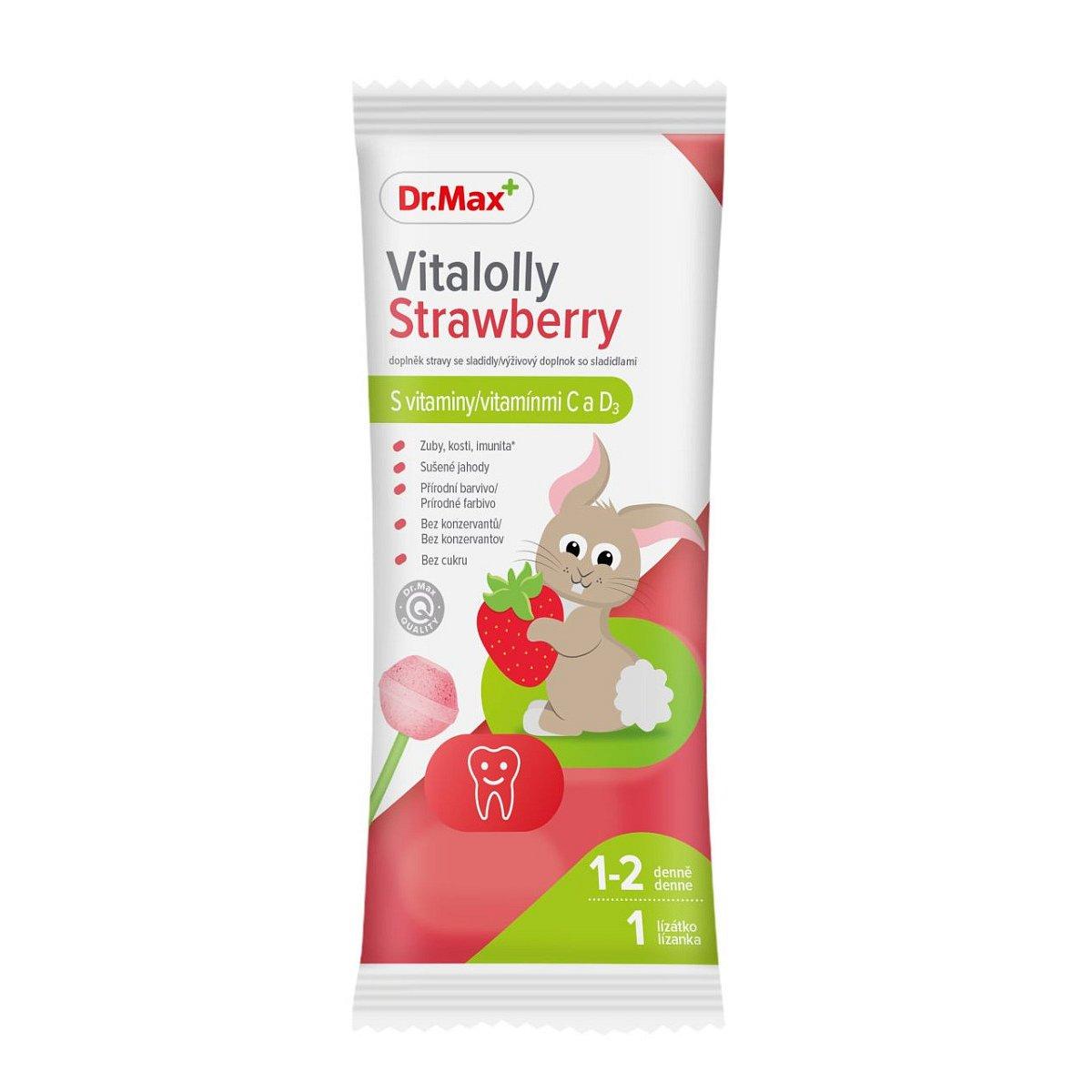 Dr.Max Vitalolly Strawberry lízátko 1 ks