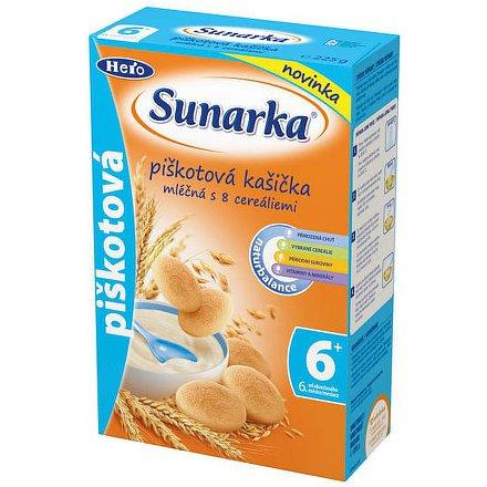 Sunarka piškotová kašička mléčná 225g