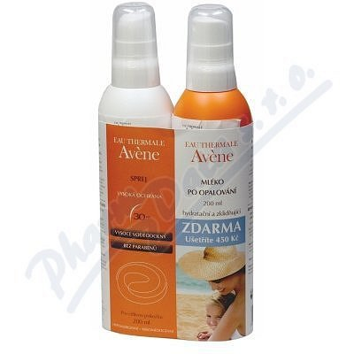 AVENE Spray SPF30 200ml + Lait repar 200ml