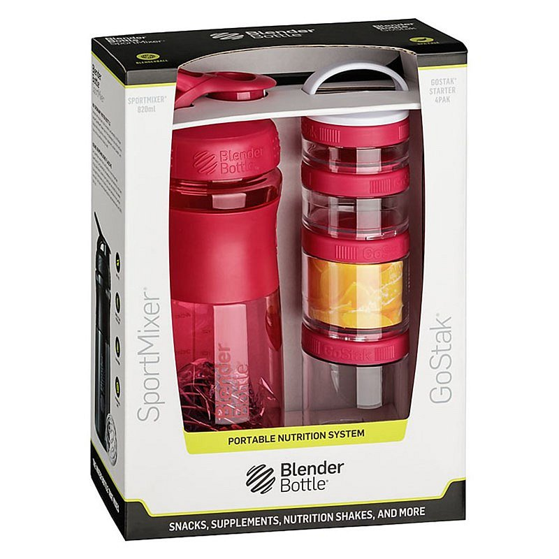 Blender Bottle Sport Mixer® GoStack růžový