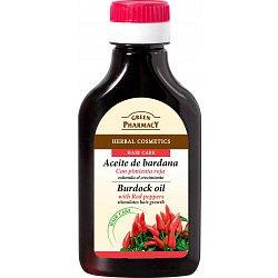 Green Pharmacy Lopuchový olej s chilli papričkami pro růst vlasů 100 ml