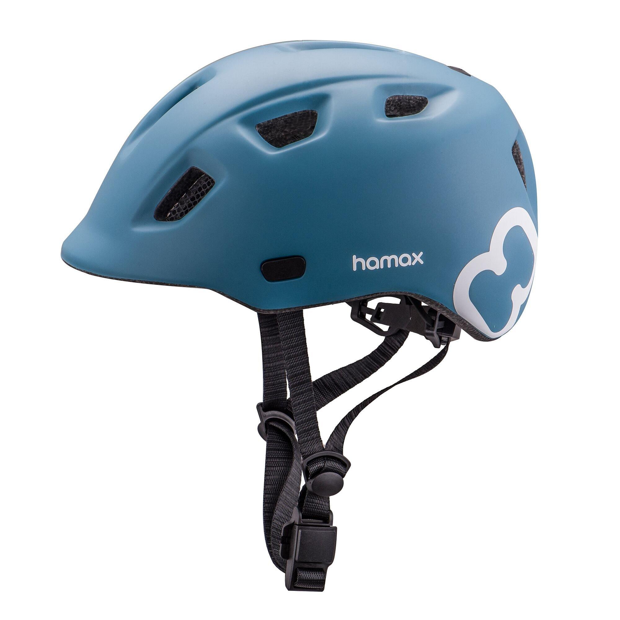 HAMAX Thundercap cyklohelma 47-52 - modrá / modré pásky