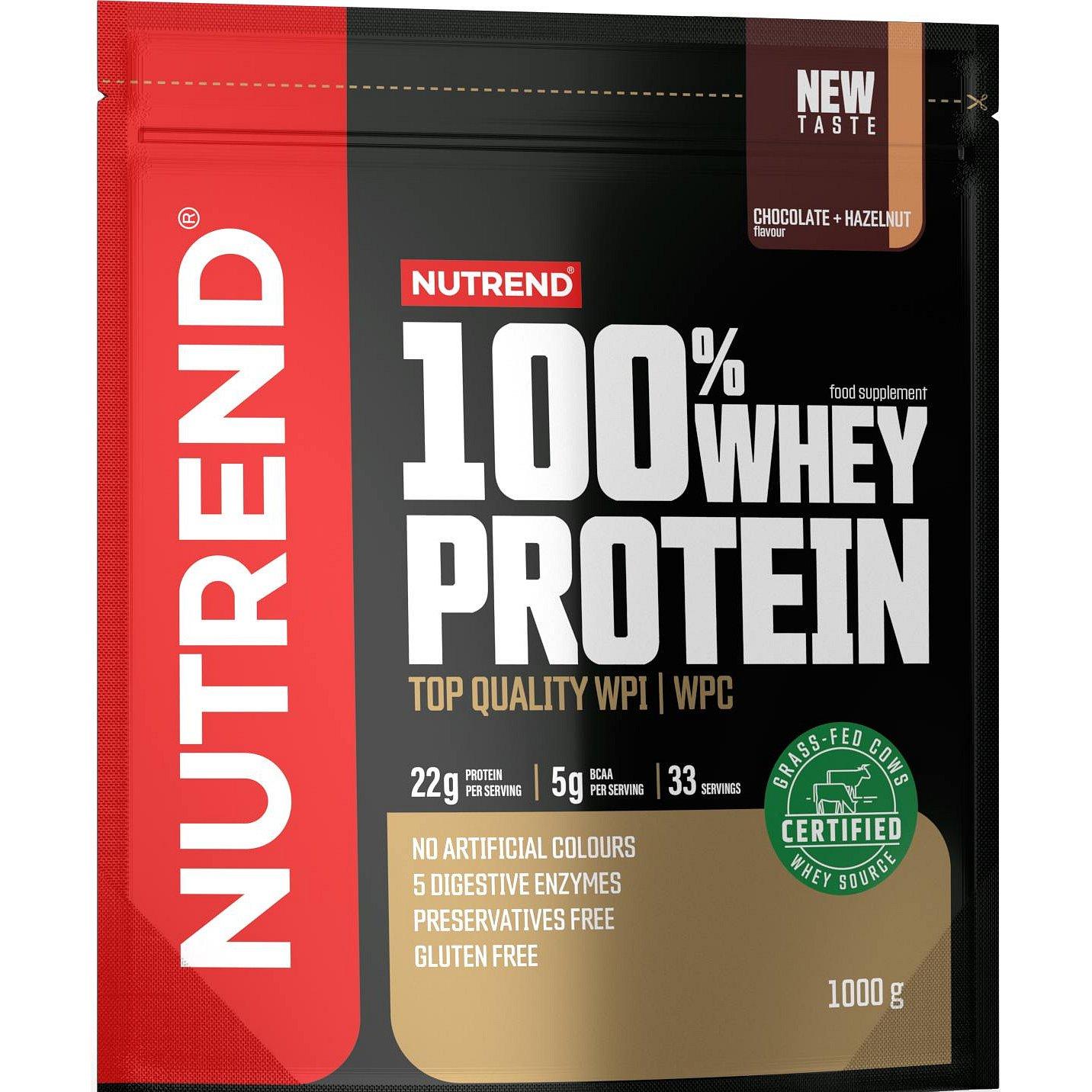 Nutrend 100% Whey Protein čokoláda/oříšek 1000g
