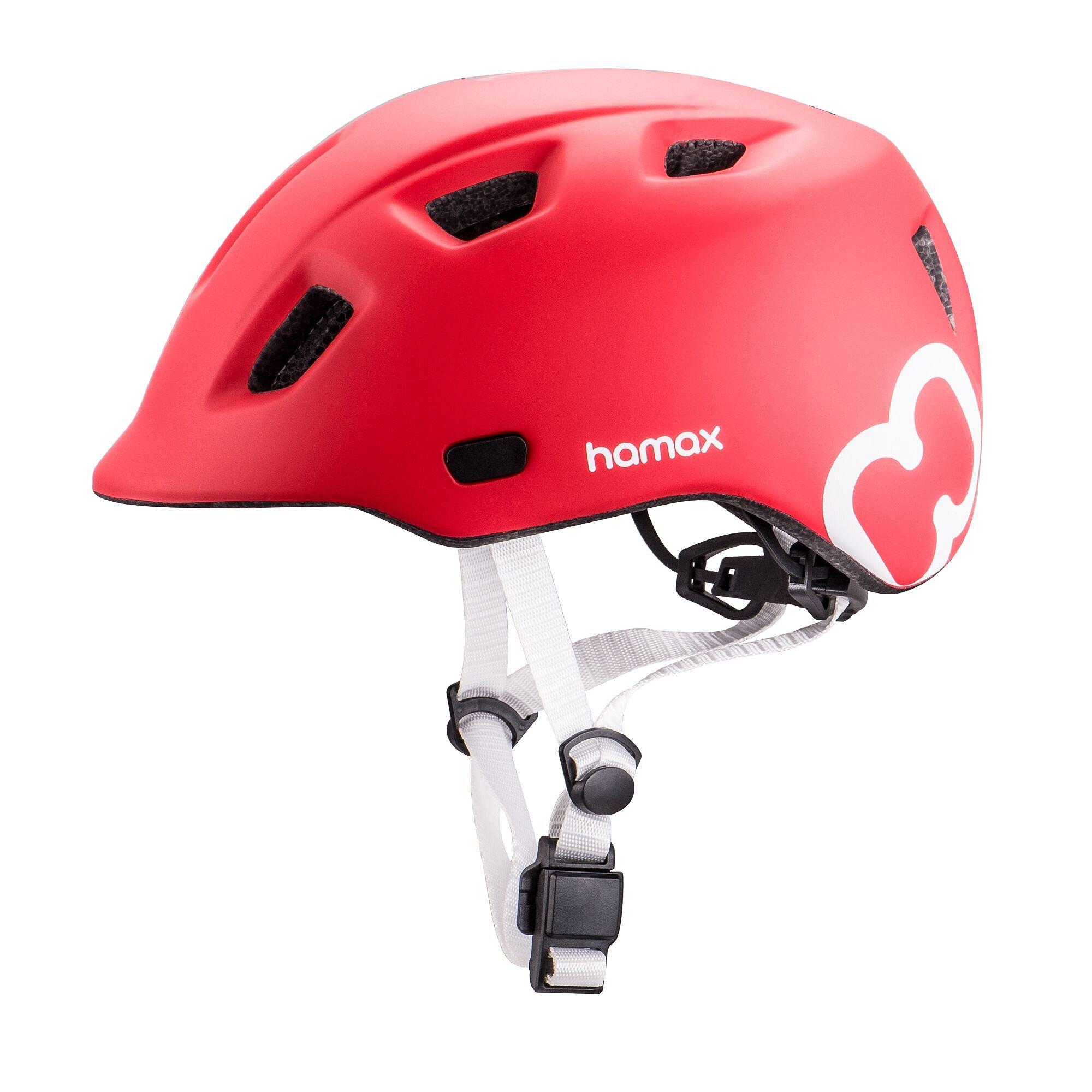 HAMAX Thundercap cyklohelma 47-52 - červená / stříbrné pásky