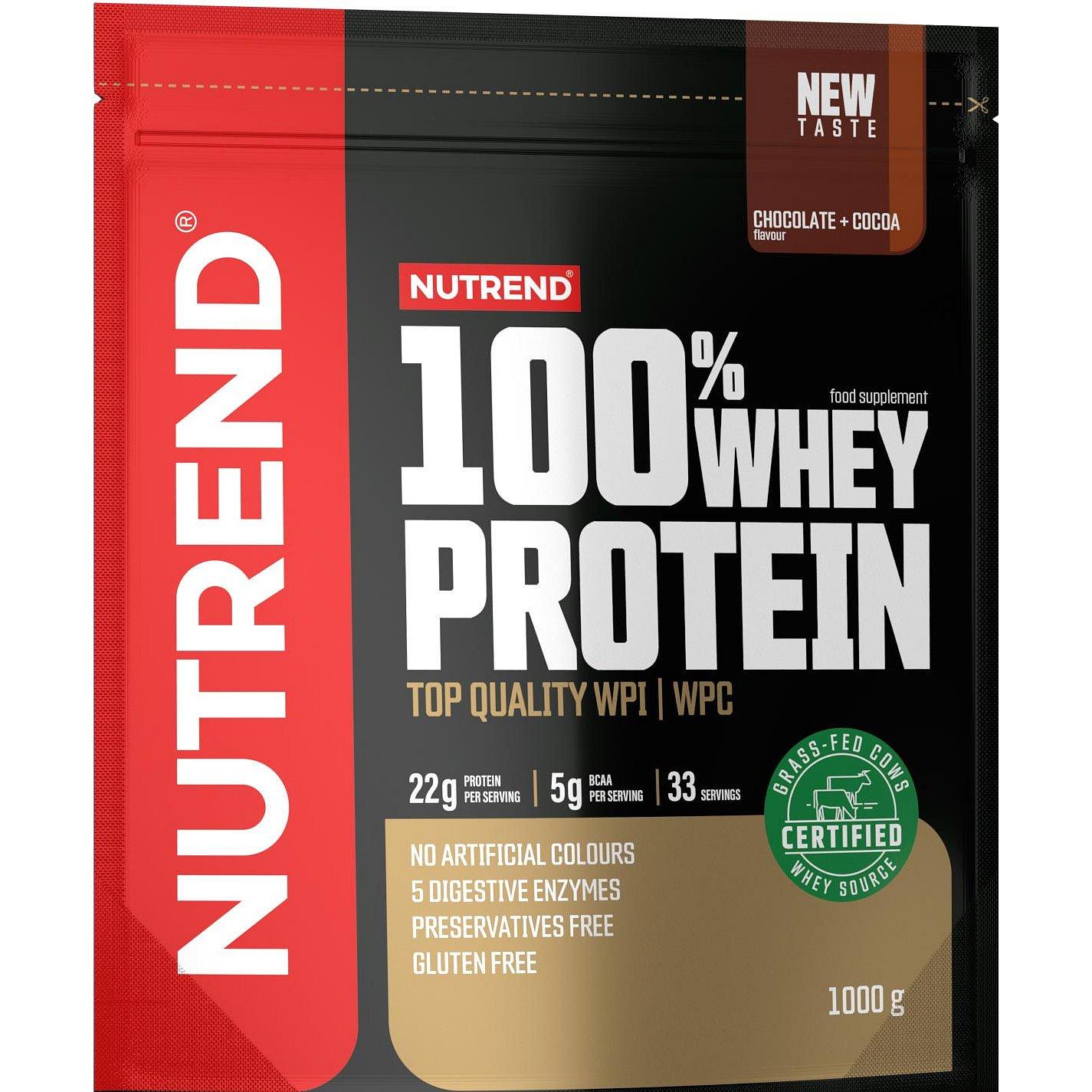 Nutrend 100% Whey Protein čokoláda/kakao 1000g