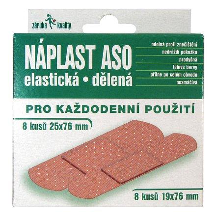 Náplast ASO elastická MIX 16ks
