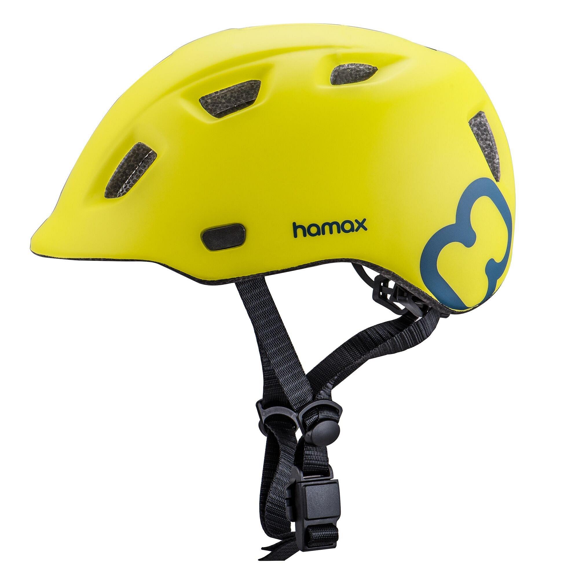 HAMAX Thundercap cyklohelma 47-52 - zelená / modré pásky