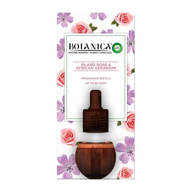 BOTANICA by AIR WICK tekutá náplň do elektrického přístroje Exotická růže a africká pelargónie 19 ml