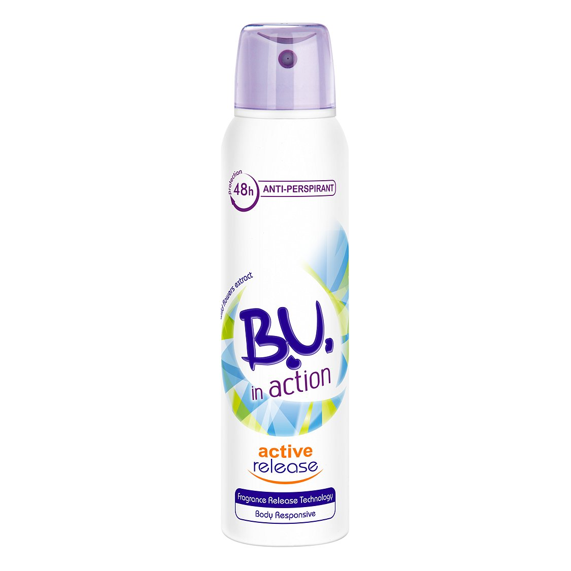 B.U. In Action Active Release antiperspirant sprej 150 ml