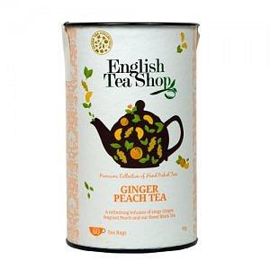 ENGLISH TEA SHOP Černý čaj se zázvorem a broskví 60 sáčků