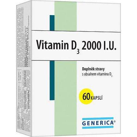 Vitamin D3 2000 I.U. cps.60 Generica