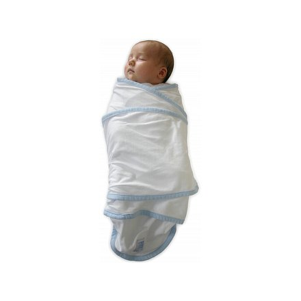 Zavinovačka Miracle blanket bílá-modrá