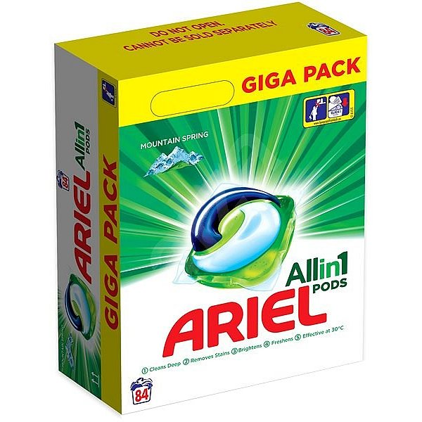Ariel gelové kapsle Mountain Spring 84ks