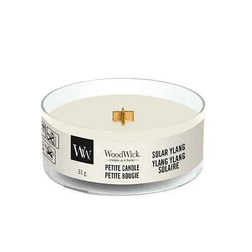 WoodWick Aromatická malá svíčka s dřevěným knotem Solar Ylang  31 g