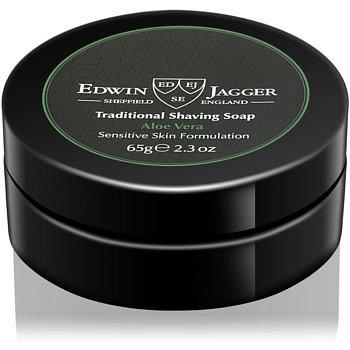 Edwin Jagger Aloe Vera mýdlo na holení pro citlivou pleť  65 g