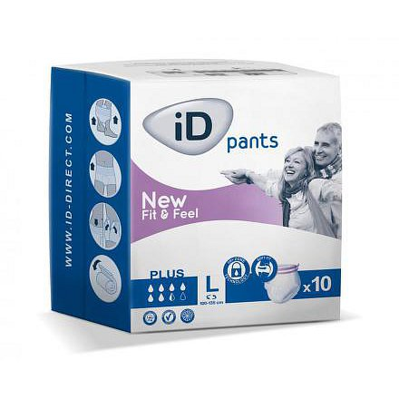 iD Pants Fit&Feel Large Plus 10ks 552136510