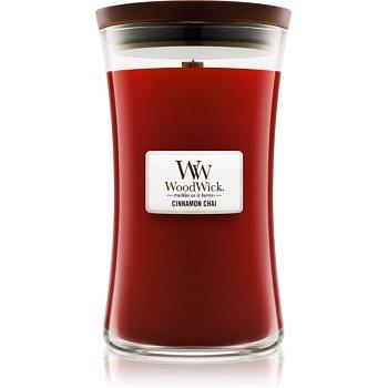 Woodwick Cinnamon Chai vonná svíčka 609,5 g s dřevěným knotem