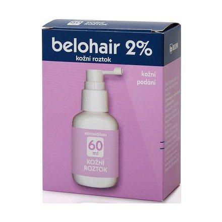 Belohair 2 % dermální roztok 1 x 60 ml
