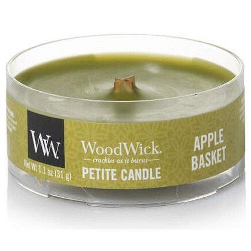 WoodWick Aromatická malá svíčka s dřevěným knotem Apple Basket 31 g