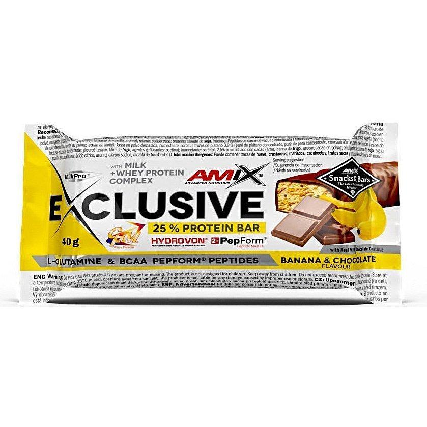 AMIX Exclusive Protein Bar, Banán-čokoláda, 40g