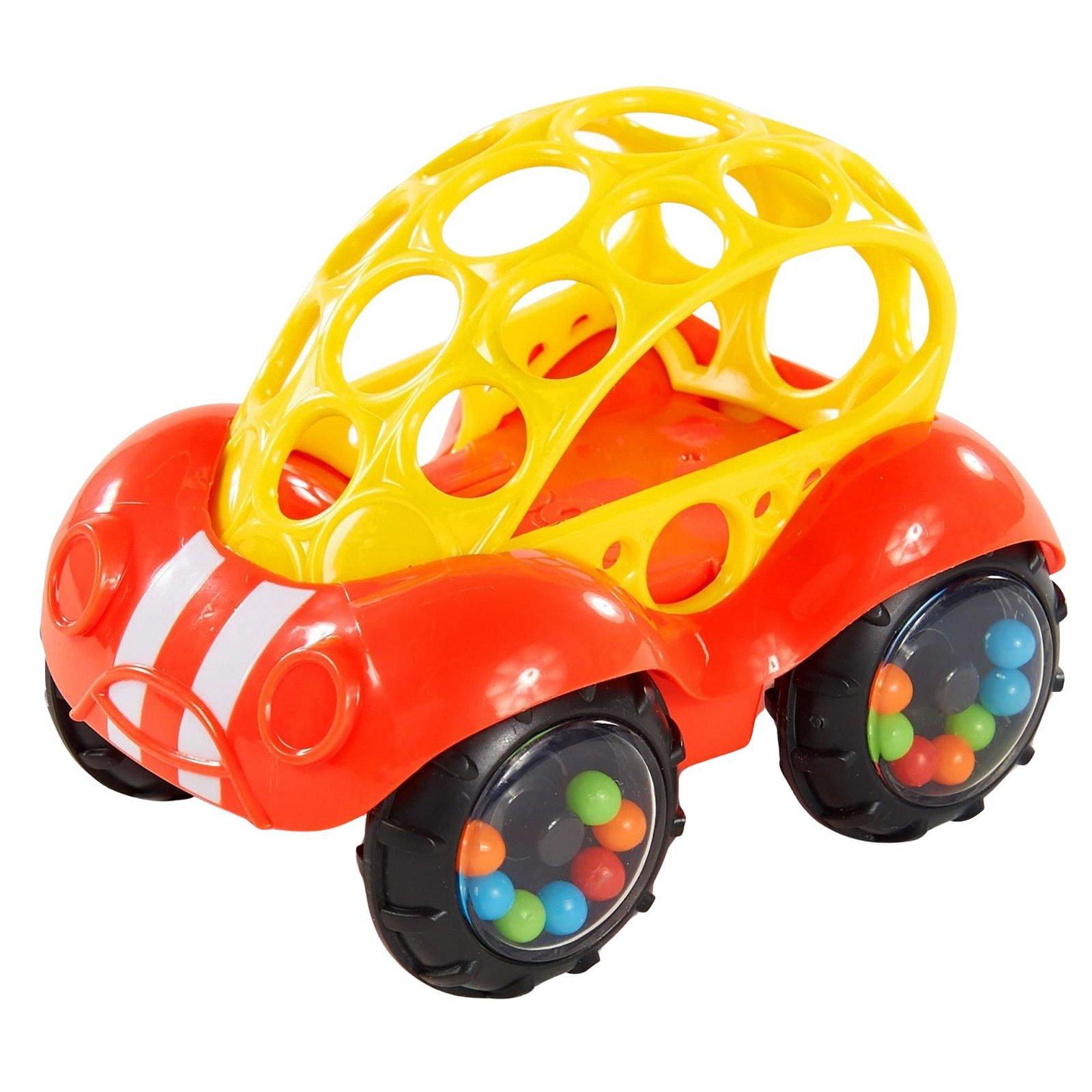 OBALL Hračka autíčko Rattle & Roll Oball™ červeno / žluté 3m+