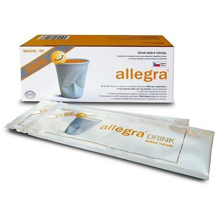 allegra DRINK 14 sáčků + Melatonin 30 pastilek ZDARMA*