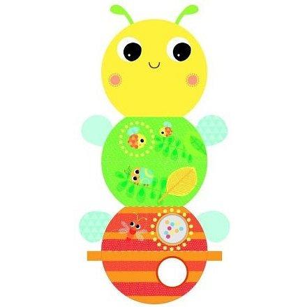 Knížka aktivní na C kroužku Beautiful Bugs včielka 0m+