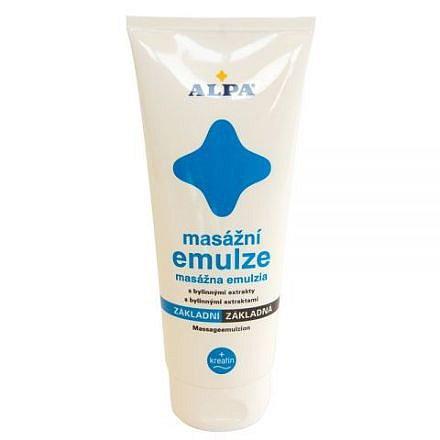 Alpa masážní emulze základní + kreatin 210 ml