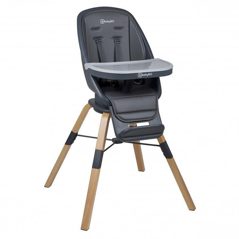 BabyGo Jídelní židlička CAROU 360° Grey