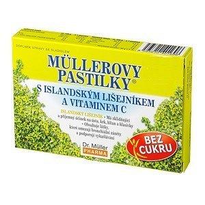 Müllerovy pastilky s isl.lišejníkem bez cukru 36ks