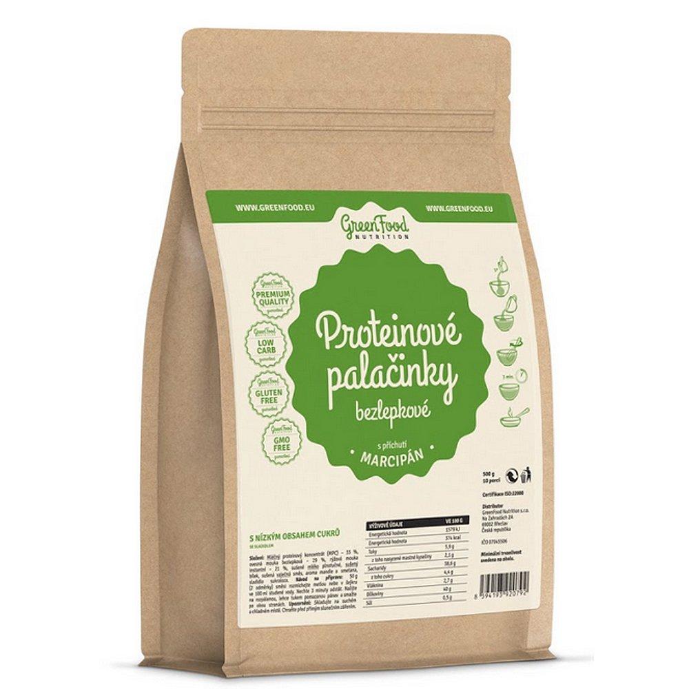 GREENFOOD NUTRITION Proteinové palačinky marcipán 500 g