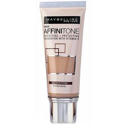 Maybelline Affinitone krycí hydratační make-up s vitaminem E 17 Rose Beige 30ml