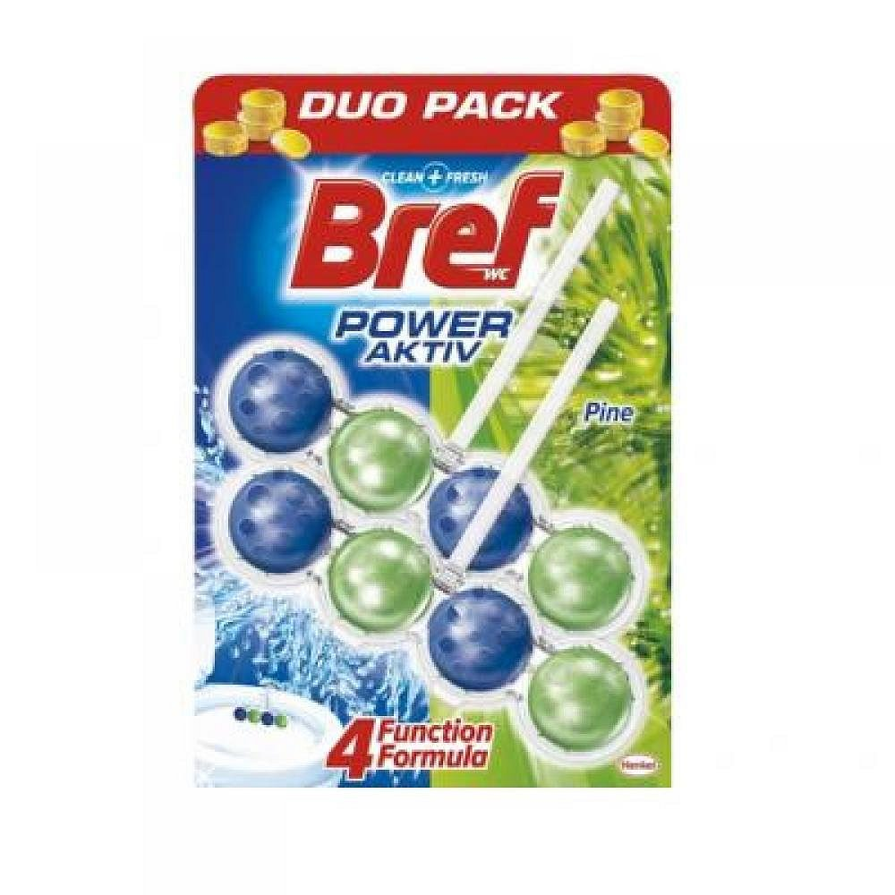 Bref Power activ WC blok 2*51g Pine