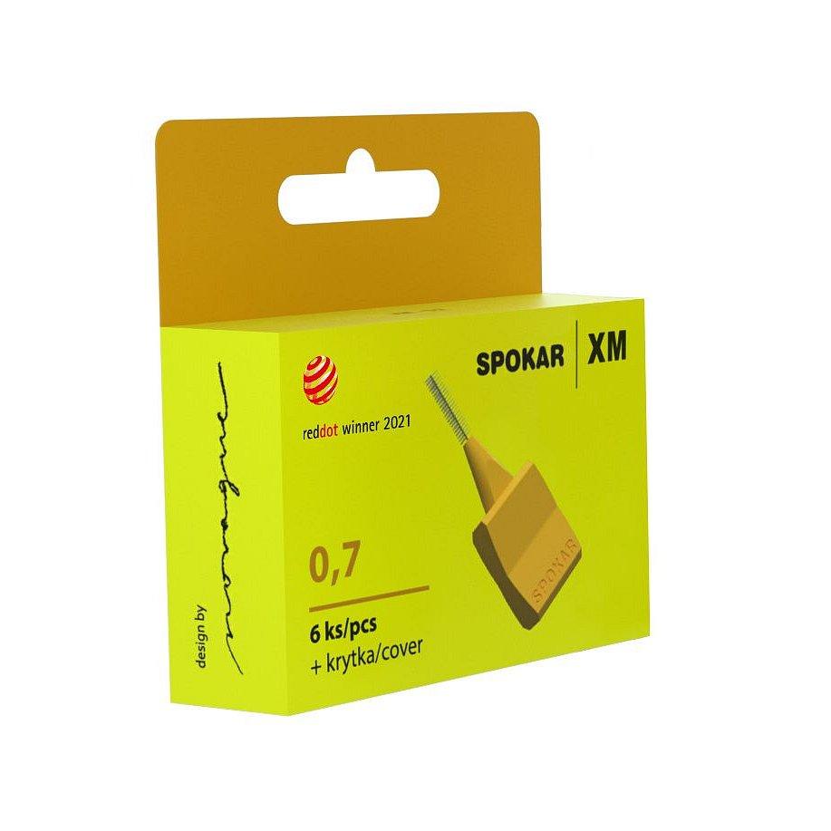 Spokar XM Mezizubní kartáčky žluté 0.7 mm 6 ks