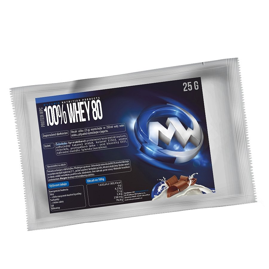 MAXXWIN 100% WHEY 80 čokoláda 25g