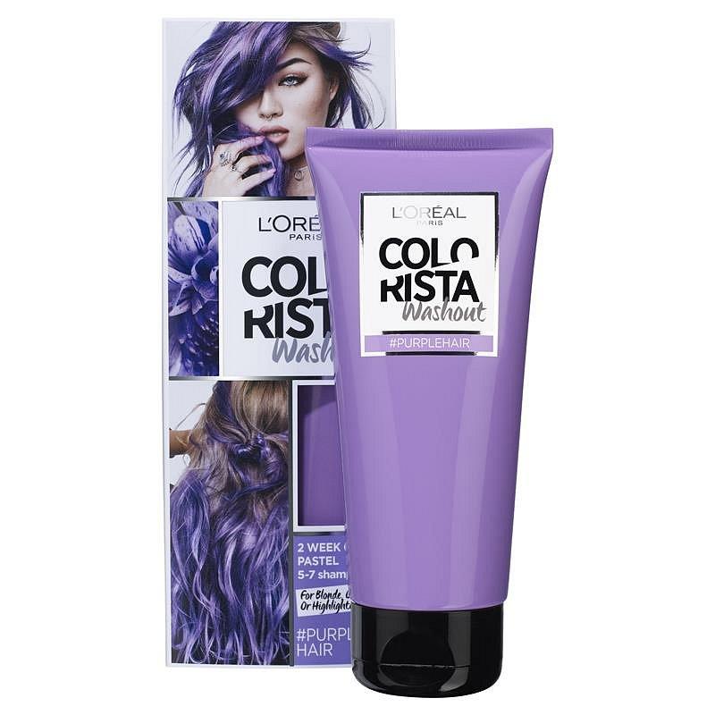 L'Oréal Paris Colorista Washout přeliv na vlasy Purple 80 ml