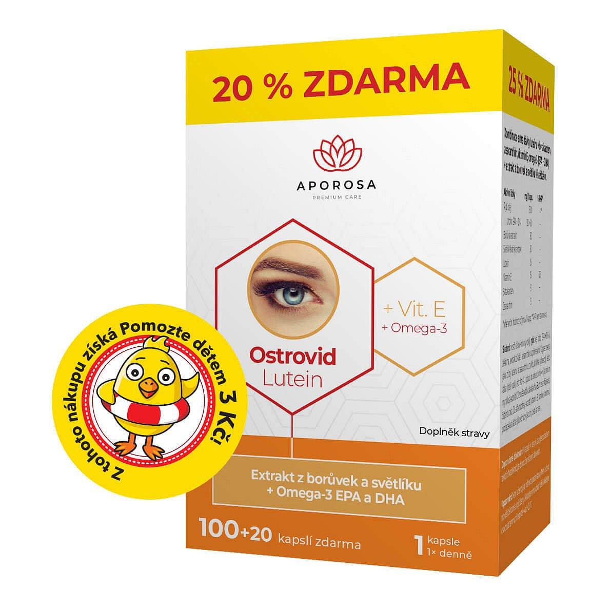 APOROSA premium Ostrovid Lutein 120 kapslí
