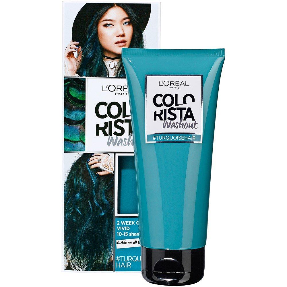 L'Oréal Paris Colorista Washout přeliv na vlasy Turquise 80 ml