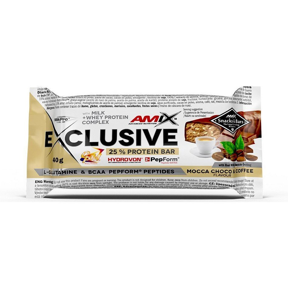 AMIX Exclusive Protein Bar, Mocca-Choco-Coffee, 40g