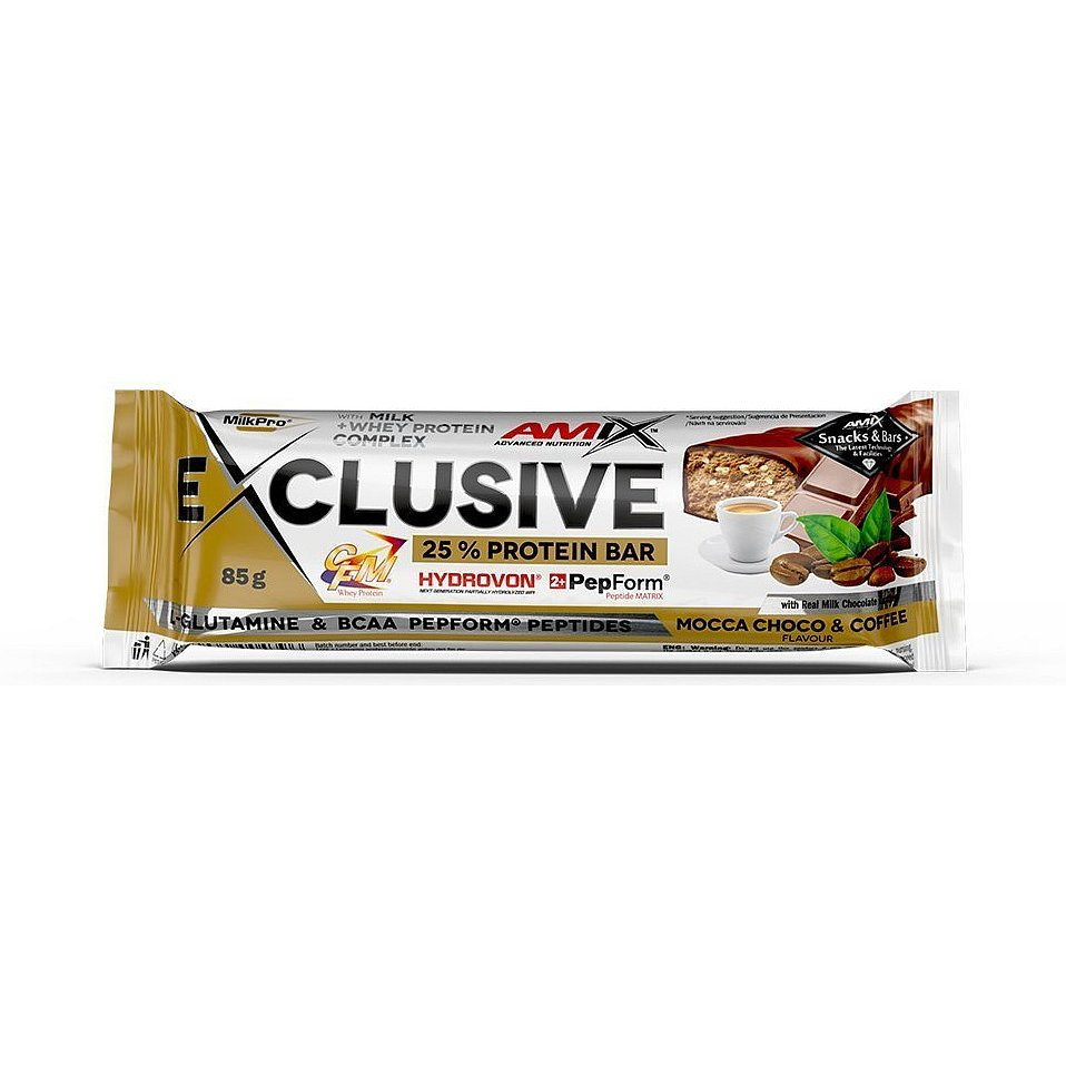 AMIX Exclusive Protein Bar, Mocca-Choco-Coffee, 85g
