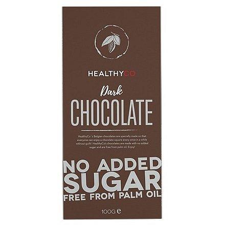 HEALTHYCO Čokoláda bez cukru hořká 100 g