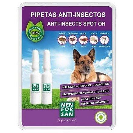 Menforsan Antiparazitní pipety proti blechám a klíšťatům pro psy 2 x 1,5ml