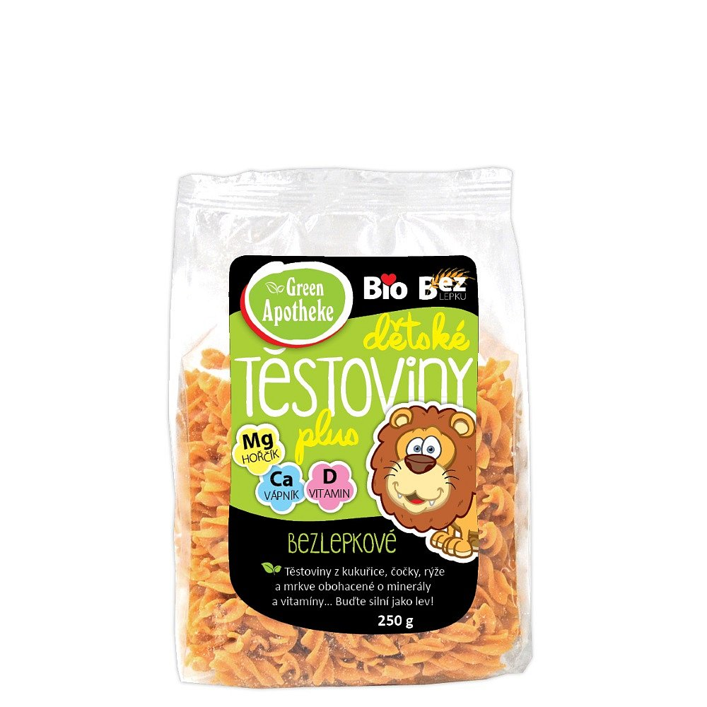 Green Apotheke Těstoviny dětské bezlepkové LEV bio 250 g