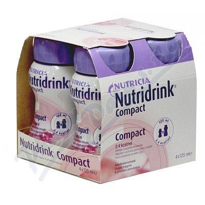 Nutridrink Compact s přích.Jahod. perorální roztok 4 x 125 ml