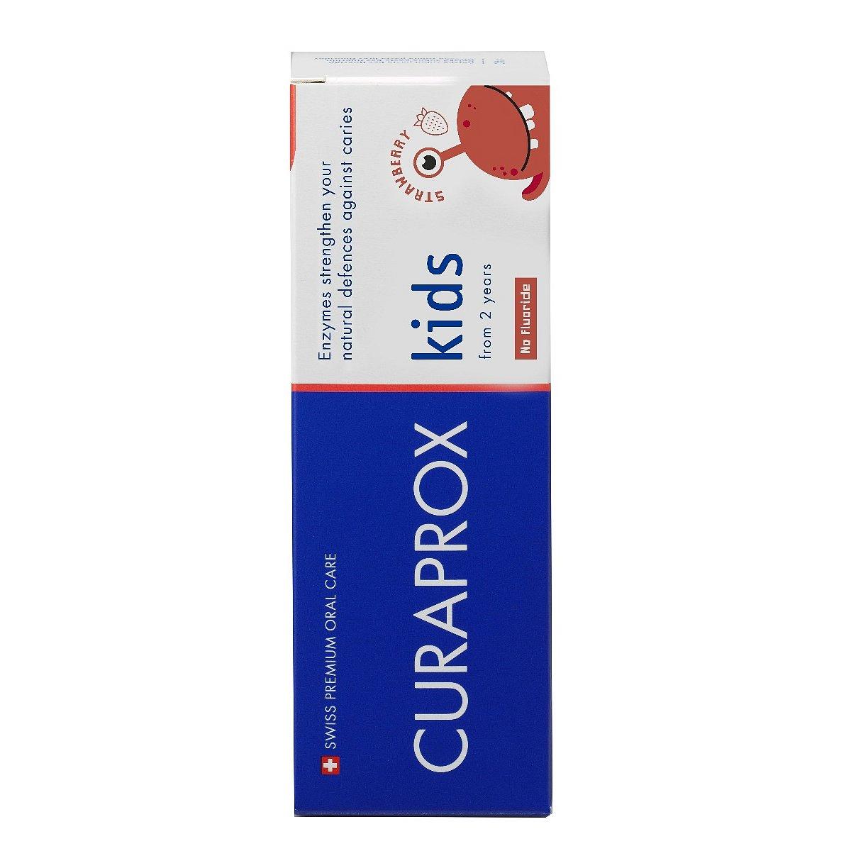 Curaprox Kids zubní pasta od 2 let (bez fluoru) jahoda 60 ml