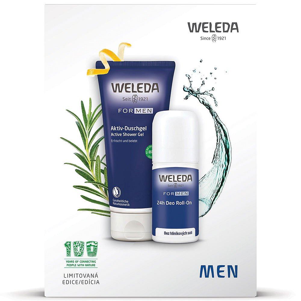 Weleda set  100Y MEN Sprchový gel 200 ml + Deo Roll-On 50 ml