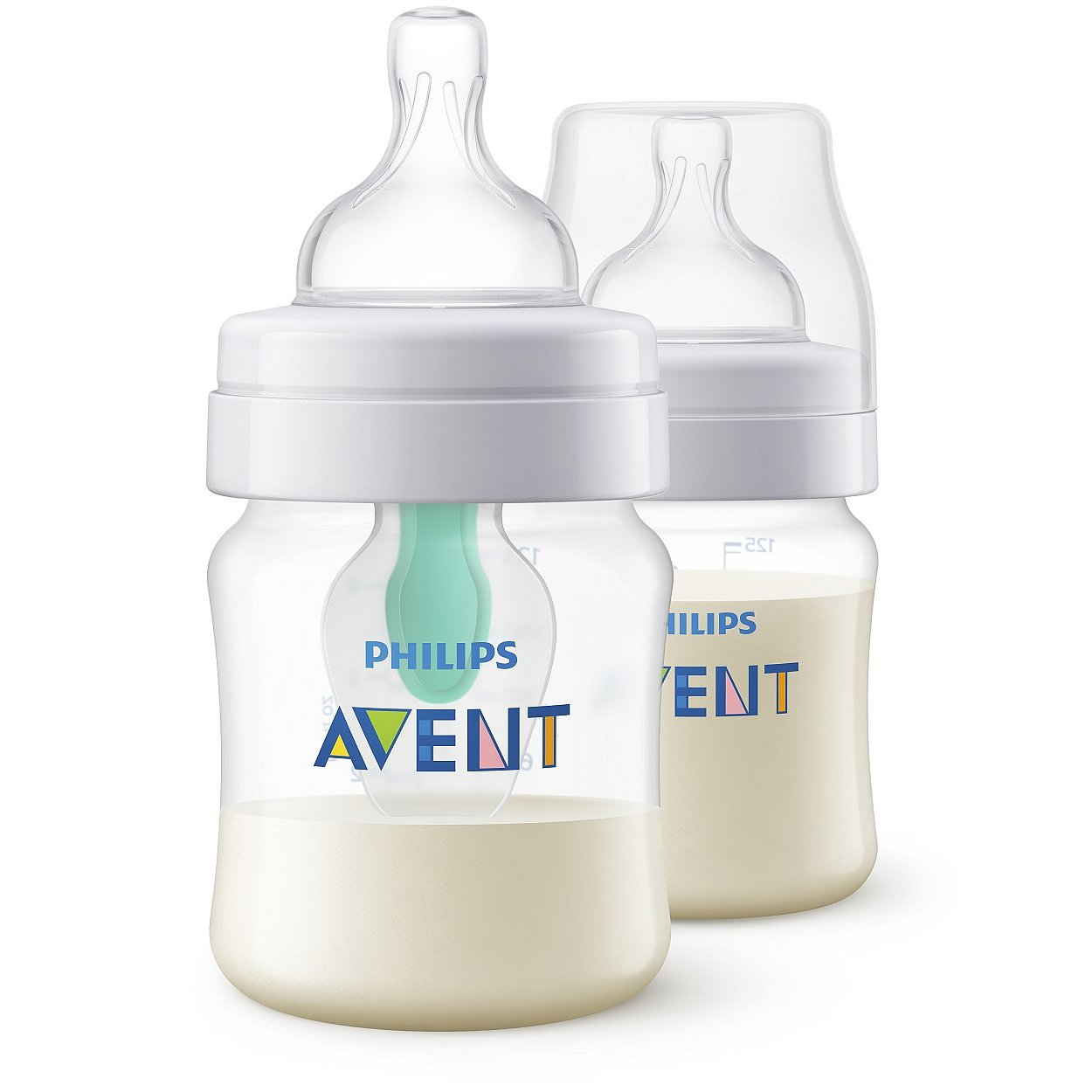 AVENT Láhev Anti-colic 125 ml (2 ks) s ventilem AirFree - Philips antikolikové kojenecké lahve SCF810/24
